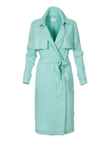 Sommer-Trenchcoat Damen mint / grün