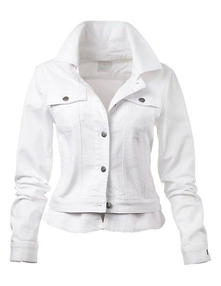 MADELEINE  Denim jasje Dames wit