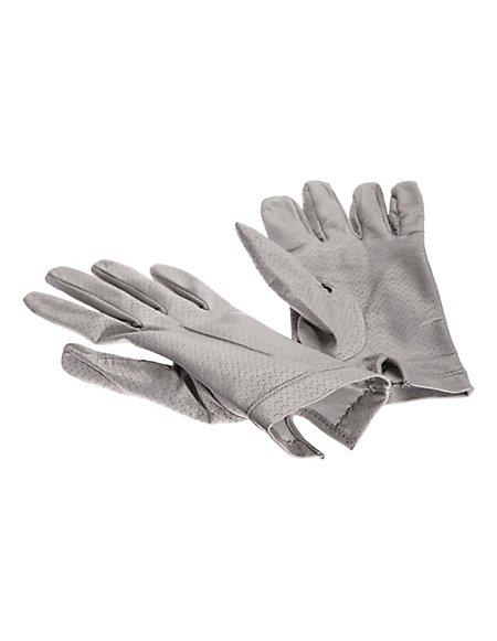 MADELEINE Leder-Handschuhe mit Seidenfutter Damen grau