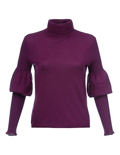 MADELEINE  Pull femme violet pourpre / violet