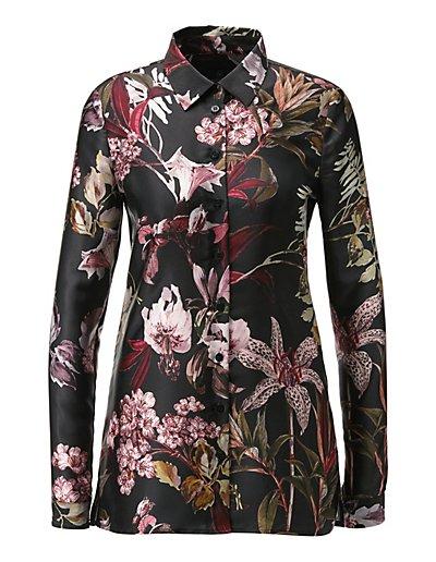 MADELEINE  Chemise femme noir/multicolore / rose pâle
