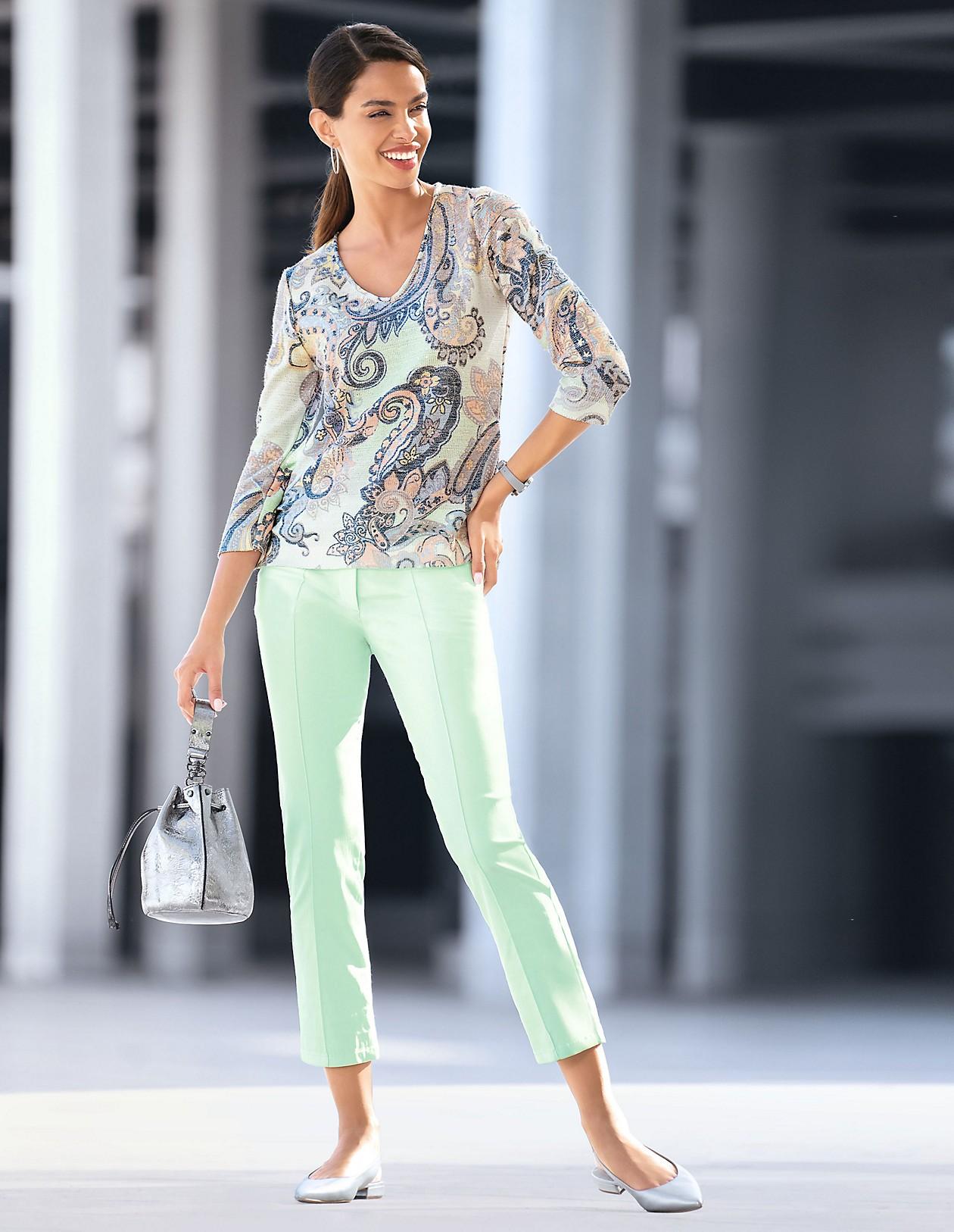 Sommer Stretchhose, vanille, gelb | MADELEINE Mode Österreich